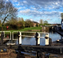 End of the day at Three Locks