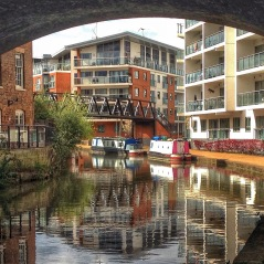 Canalside devlopments at the site of the old Wolverton Works