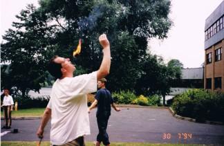 Fire-eating workshop 1994